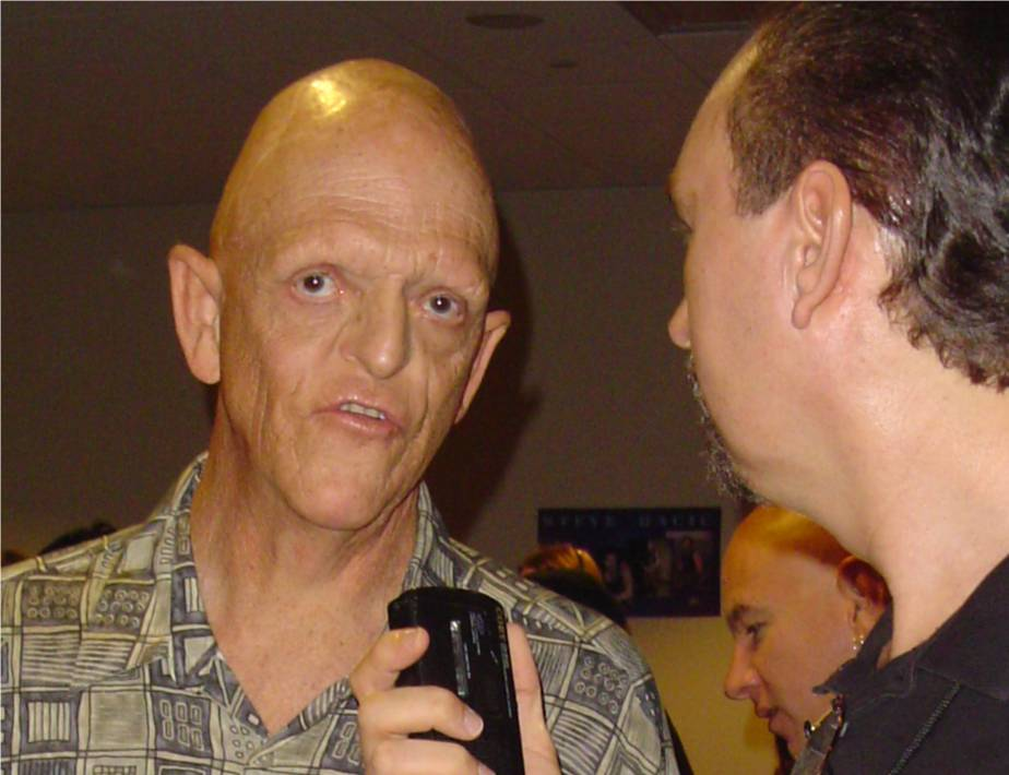 Description: Description: Description: Stephen Euin Cobb interviewing horror actor Michael Berryman
